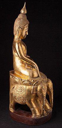Oud houten Boeddhabeeld