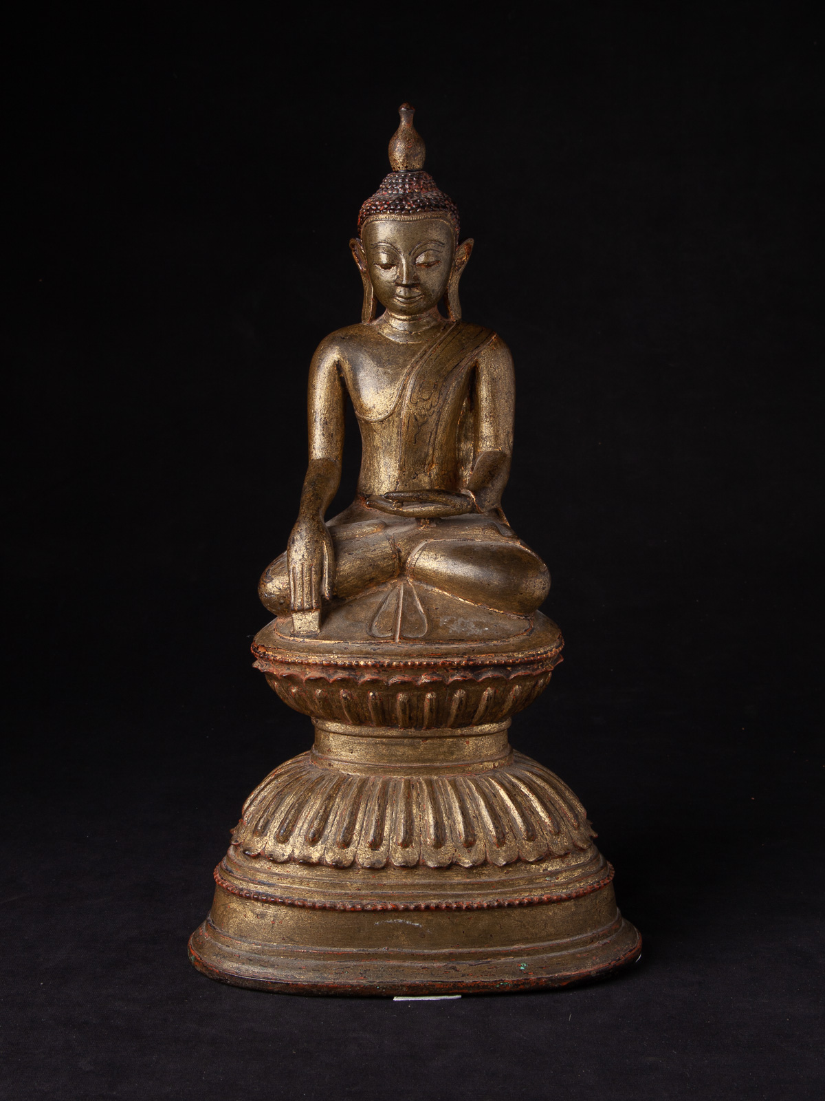 Antique bronze Ava Buddha statue from Burma