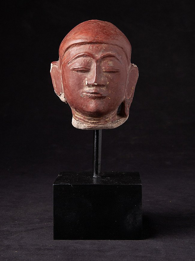 Antique sandstone Buddha head