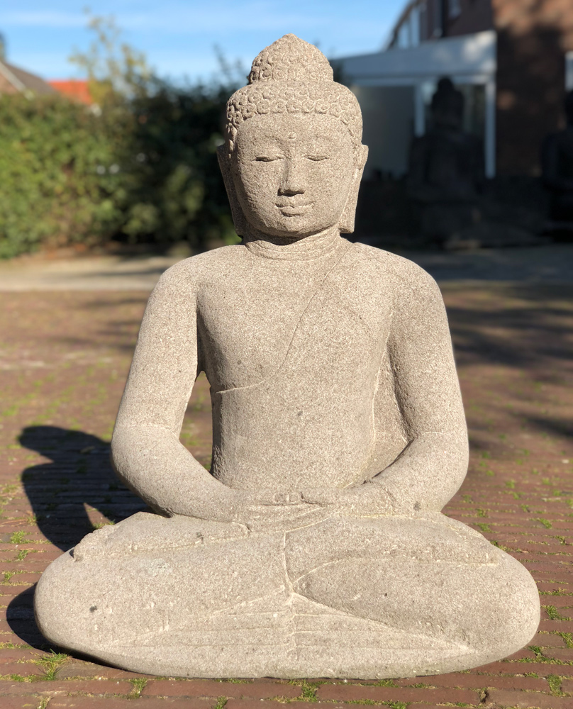 Lavastone Buddha statue from Indonesia
