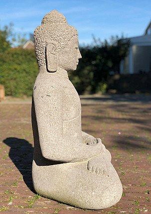 Lavastone Buddha statue