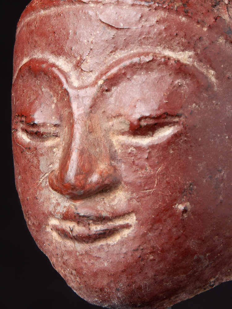 Antique sandstone Buddha head from Burma made from Sandstone