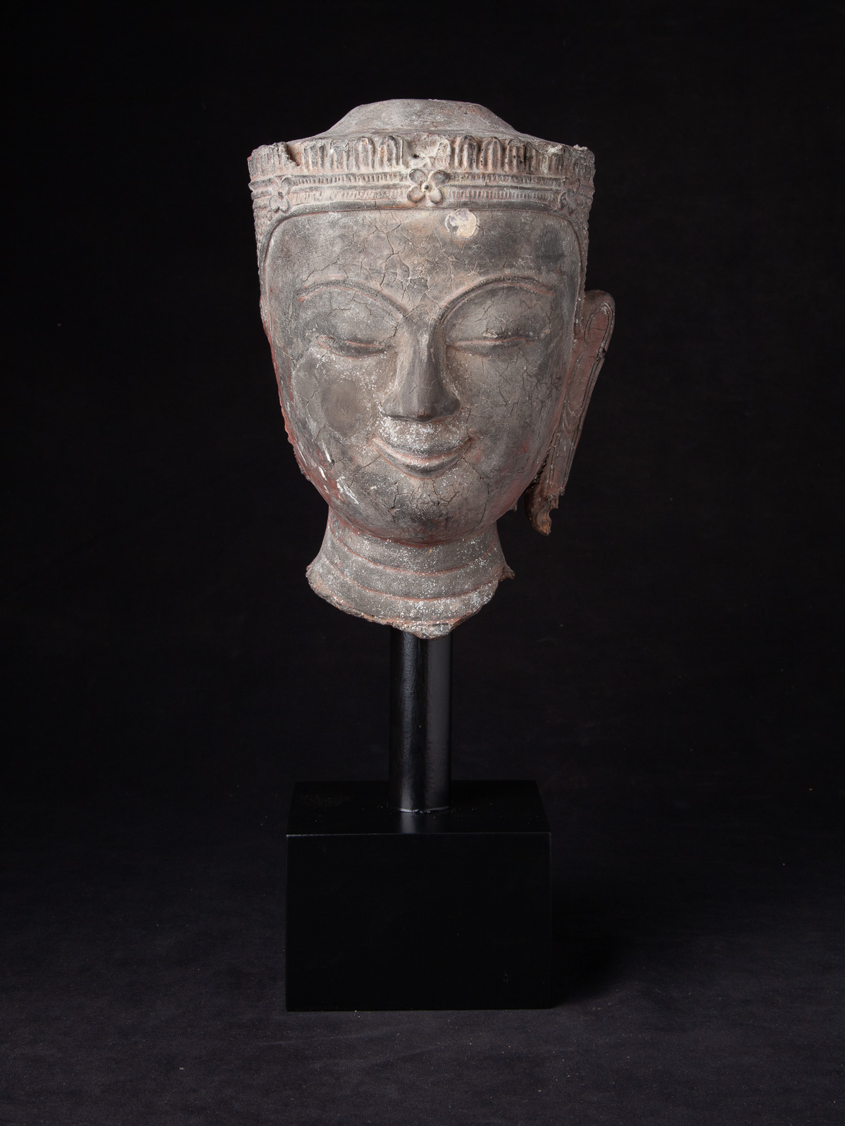 Antique Burmese Buddha head from Burma
