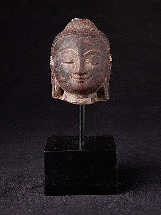 Antiek zandstenen Boeddhahoofd