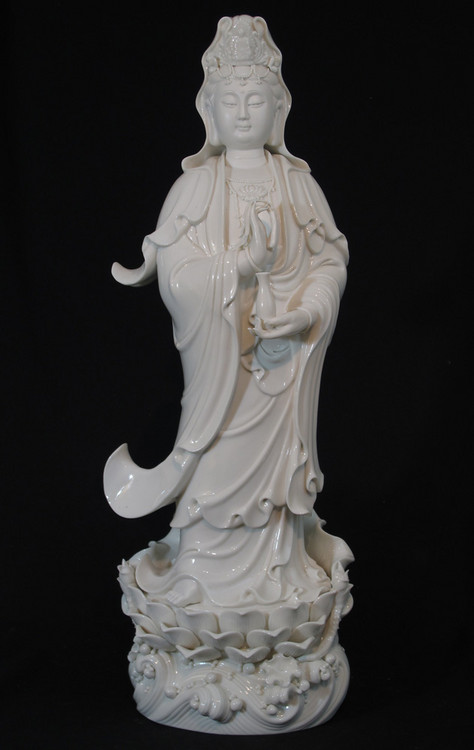 New standing Guan Yin from China