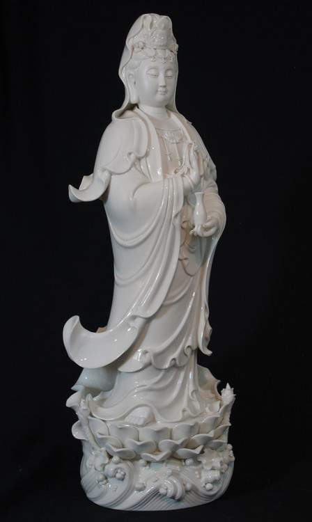 New standing Guan Yin from China made from porcelain