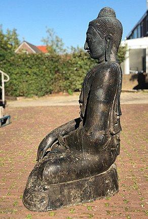 Large antique bronze Buddha statue
