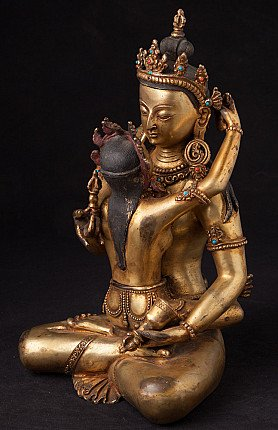 Alte bronze Buddha - Shakti Figur