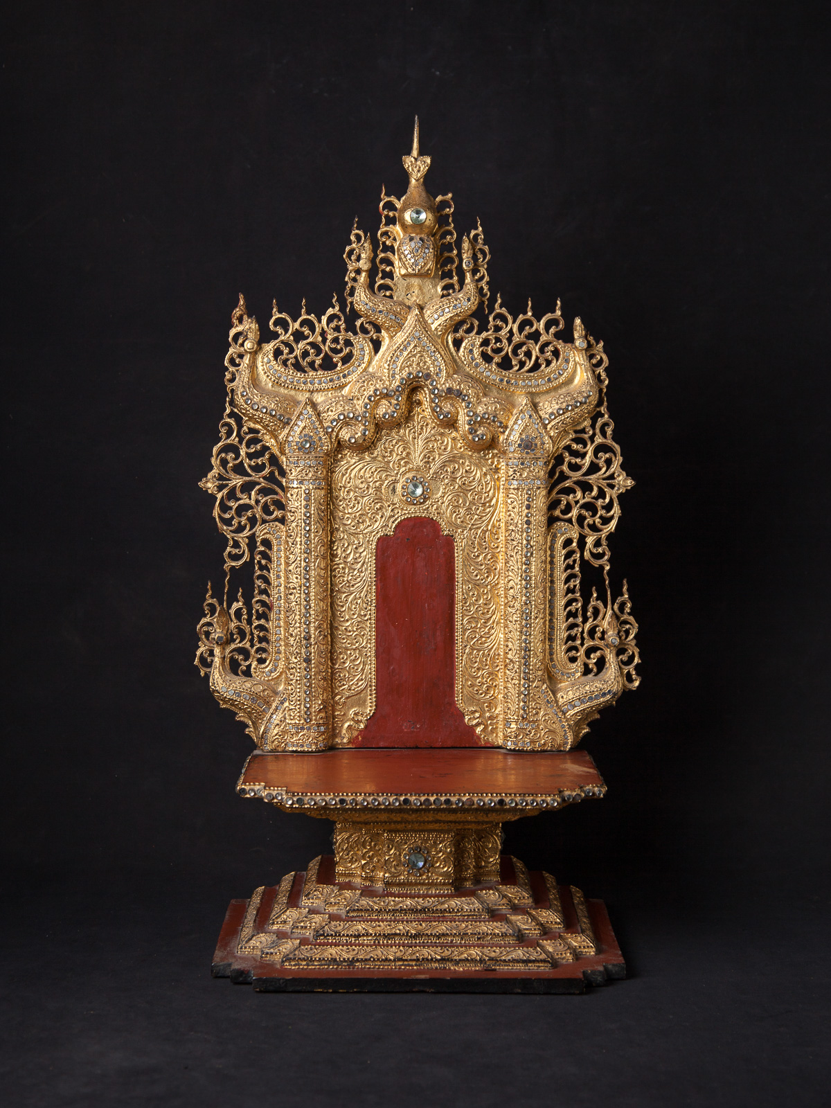 Antique wooden Buddha throne from Burma
