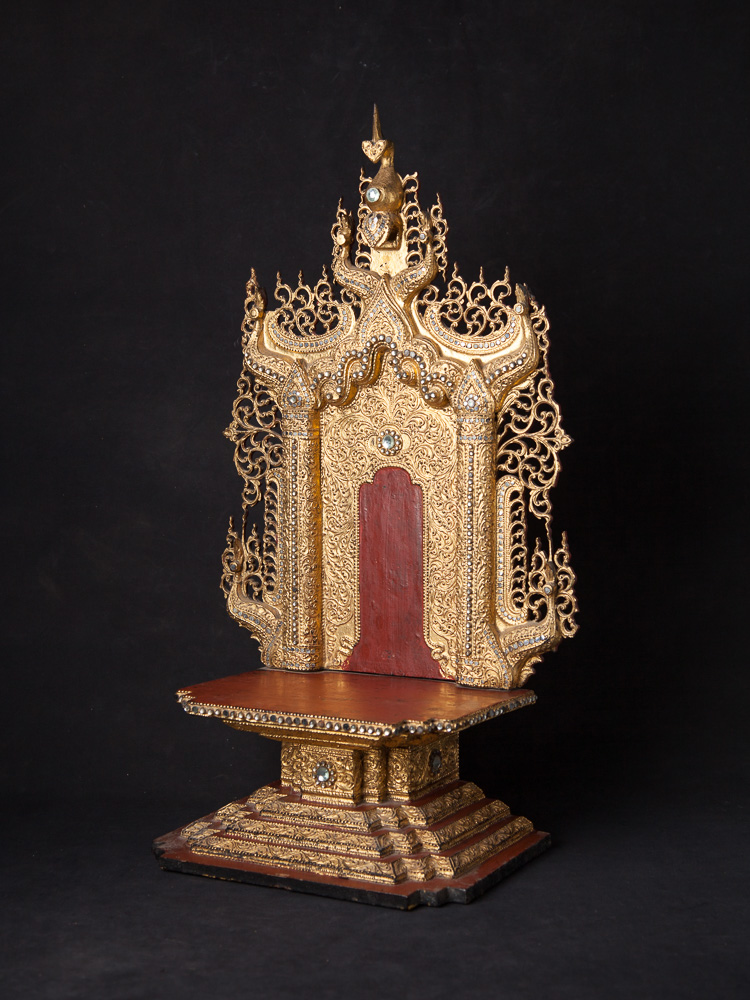 Antique wooden Buddha throne from Burma made from Wood