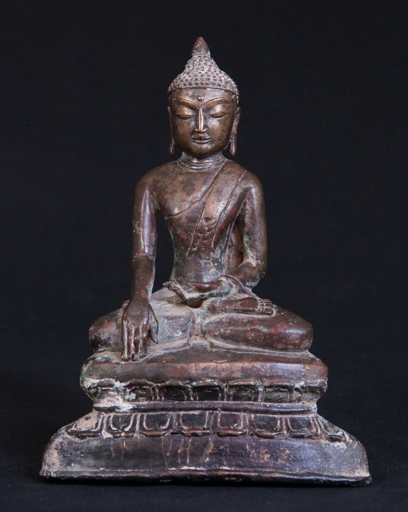 Antique Burmese Pinya Buddha statue from Burma