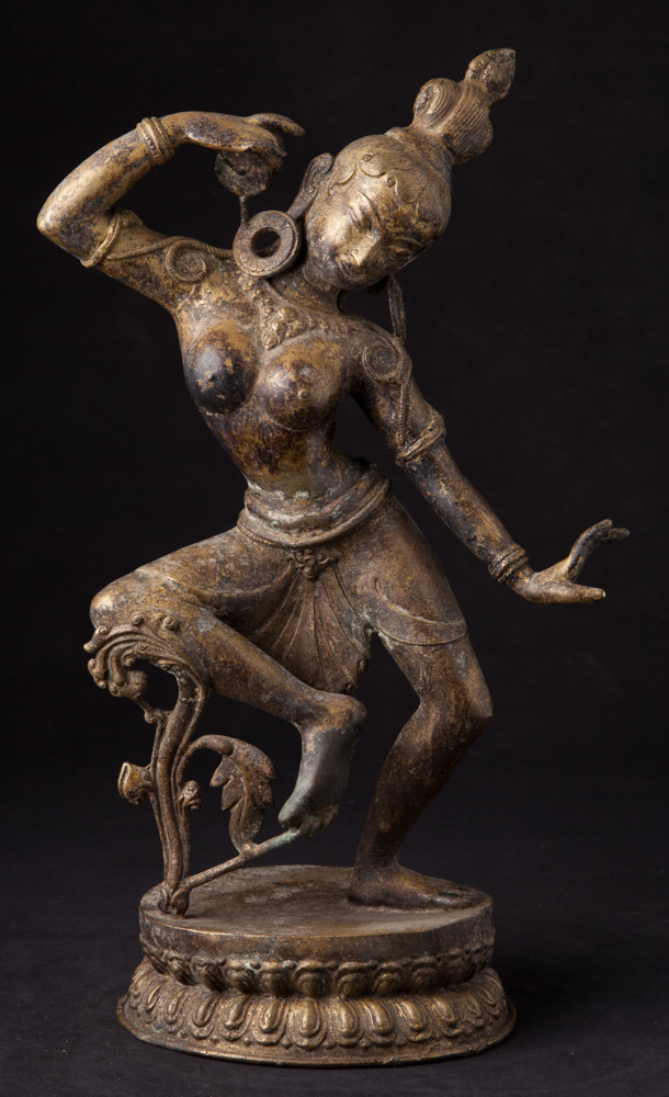 Old bronze dancing Dakini statue from Nepal made from Bronze