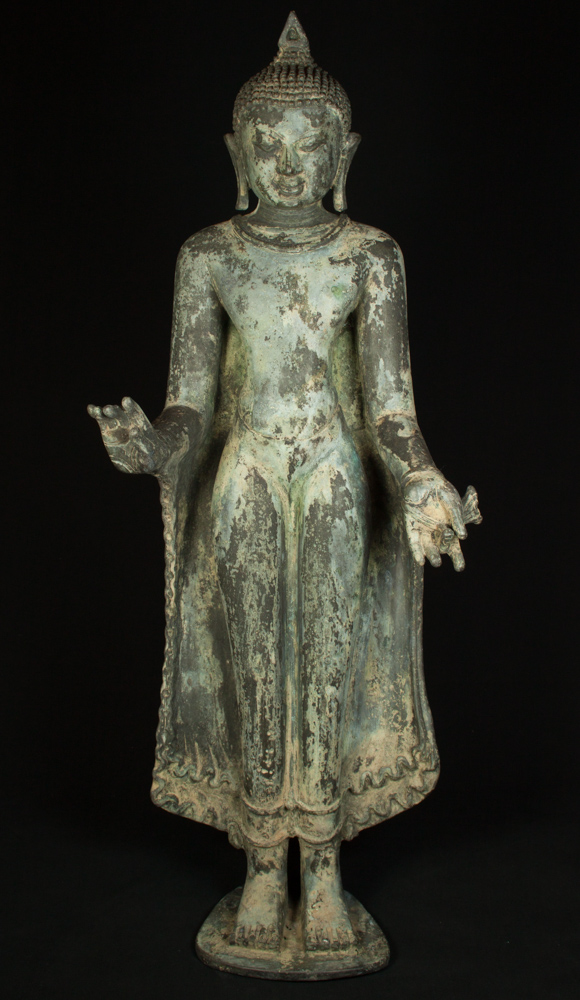 Old standing Mandalay Buddha statue from Burma