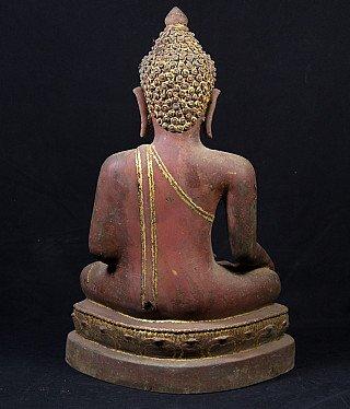 Antiek bronzen Chiang Saen Boeddhabeeld