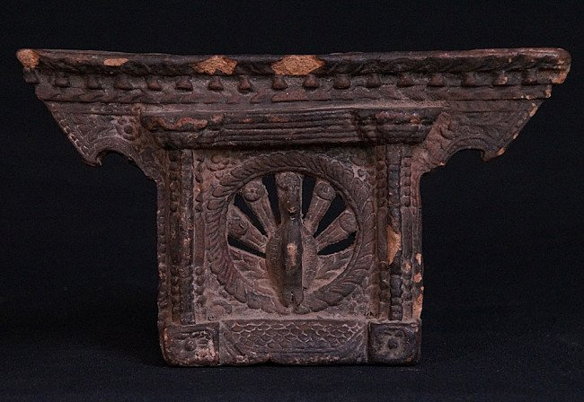Antique Nepali window panel