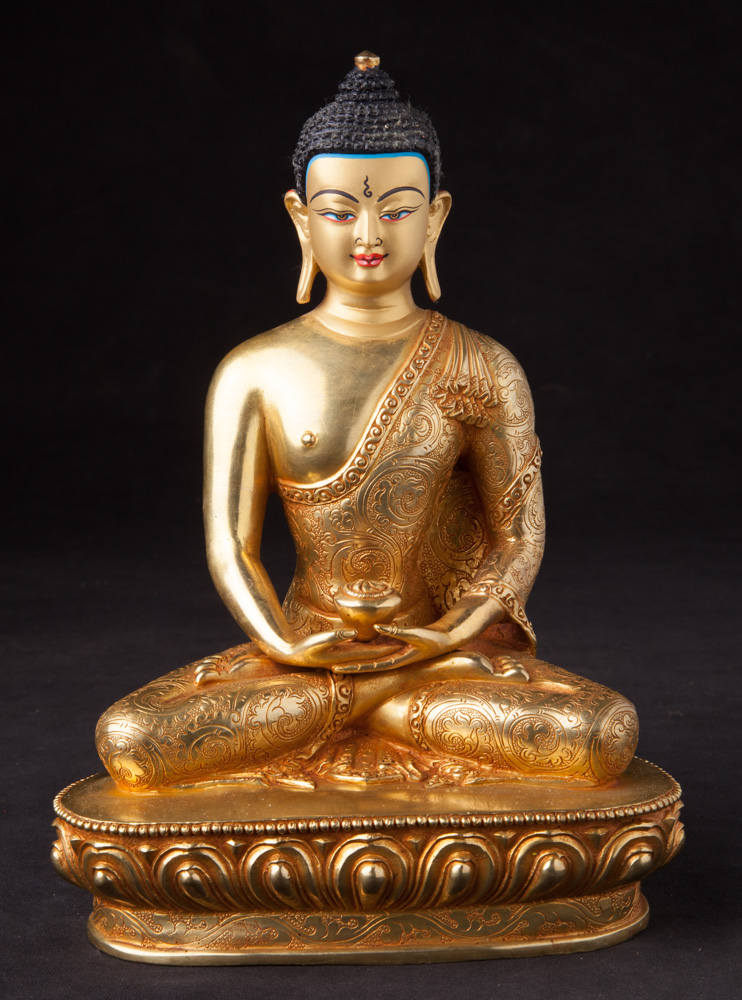 Newly made Nepali Buddha statue from Nepal made from Bronze