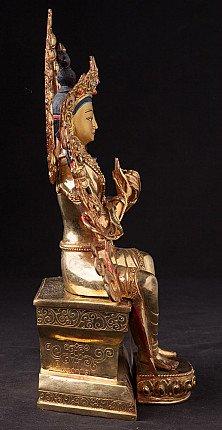Gilded bronze Maitreya Buddha statue