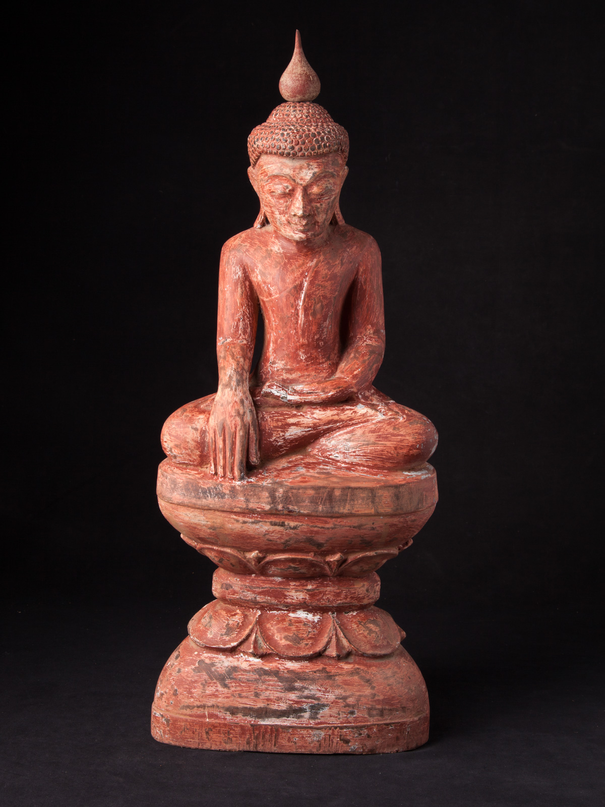 Old wooden Burmese Buddha statue from Burma