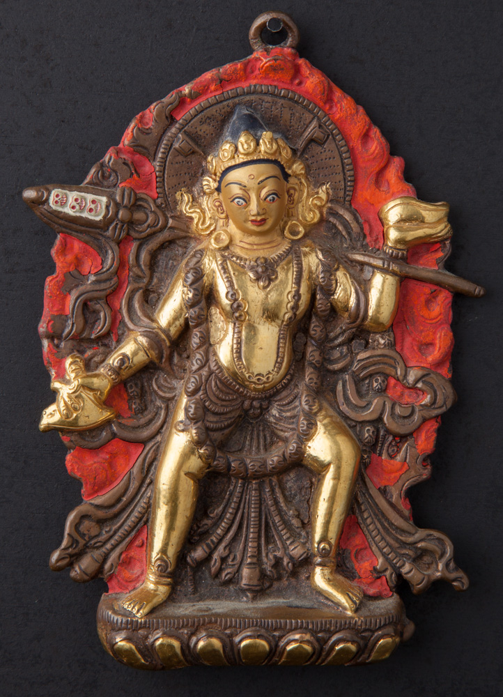 Old bronze Vajra Yogini statue from Nepal