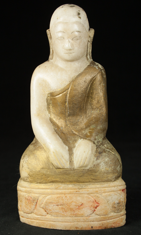 Antique marble monk statue from Burma made from Marble