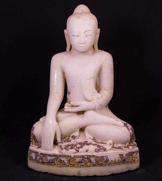 Antique marble Mandalay Buddha statue