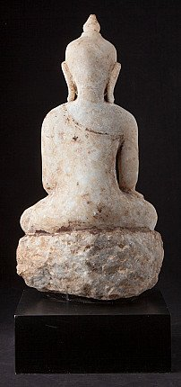 Antique alabaster Ava Buddha statue