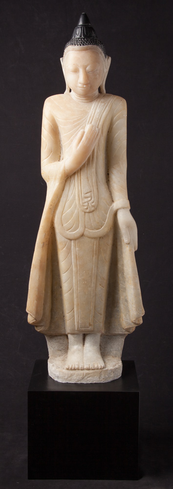 Antique alabaster Buddha statue from Burma made from