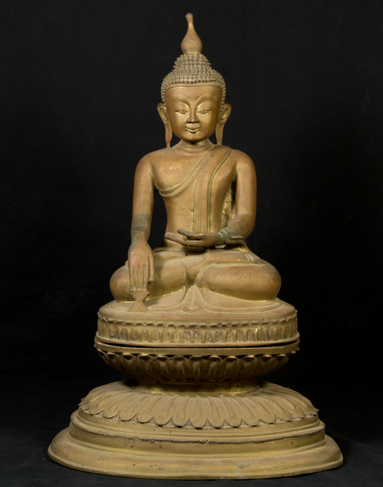 Old bronze Ava Buddha statue from Burma