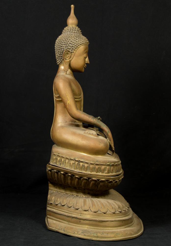 Old bronze Ava Buddha statue