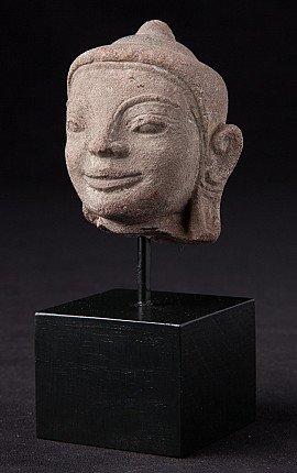 Antique sandstone Shan Buddha head