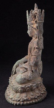 Old bronze Arakan Buddha statue
