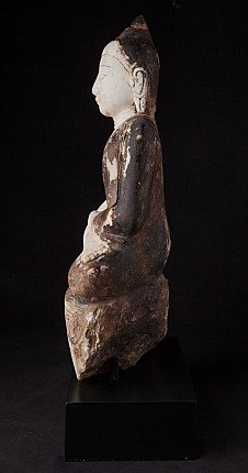 Antique marble Ava period Buddha statue