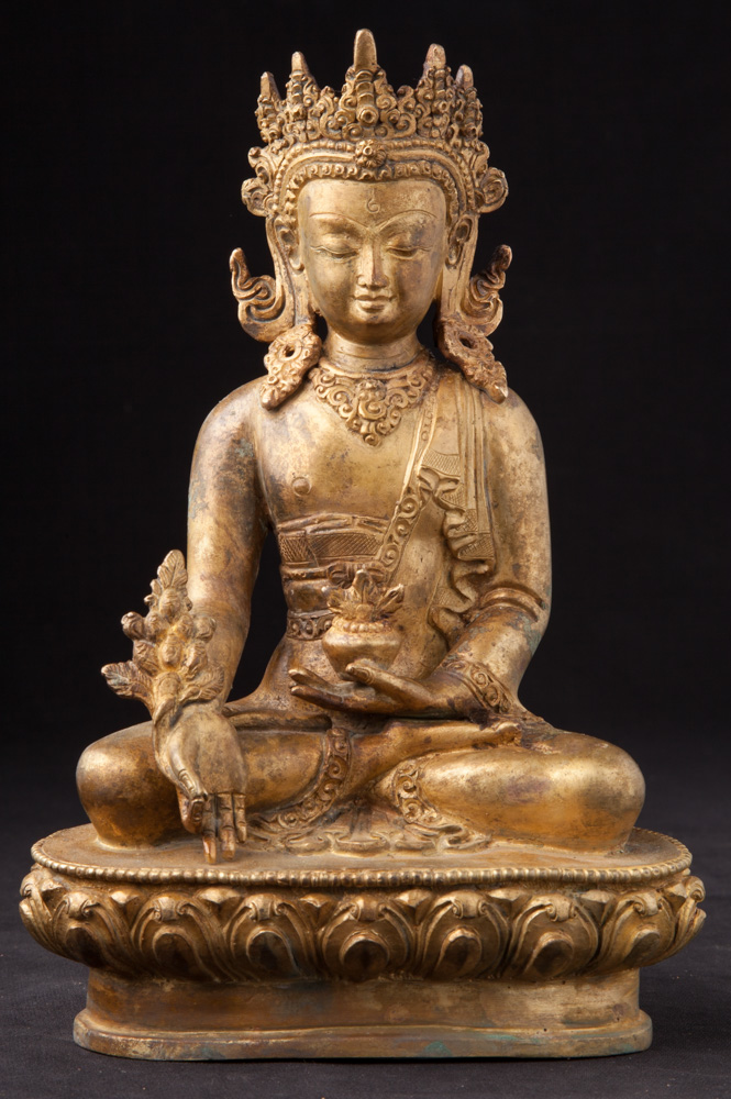 Special large bronze Maitreya Buddha statue from Nepal made from Bronze