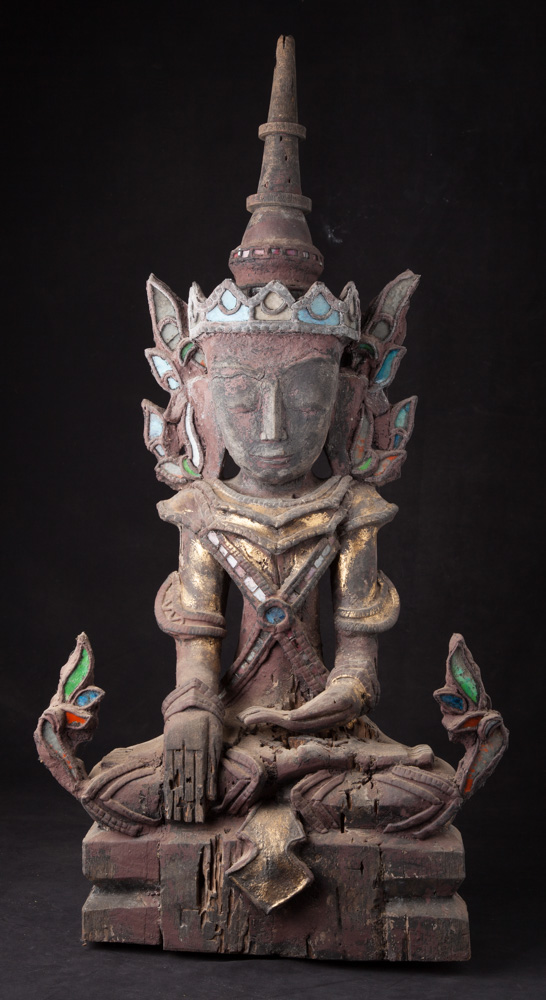 Old wooden Shan Buddha from Burma