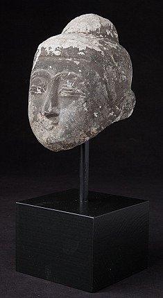 Antique marble Buddha head