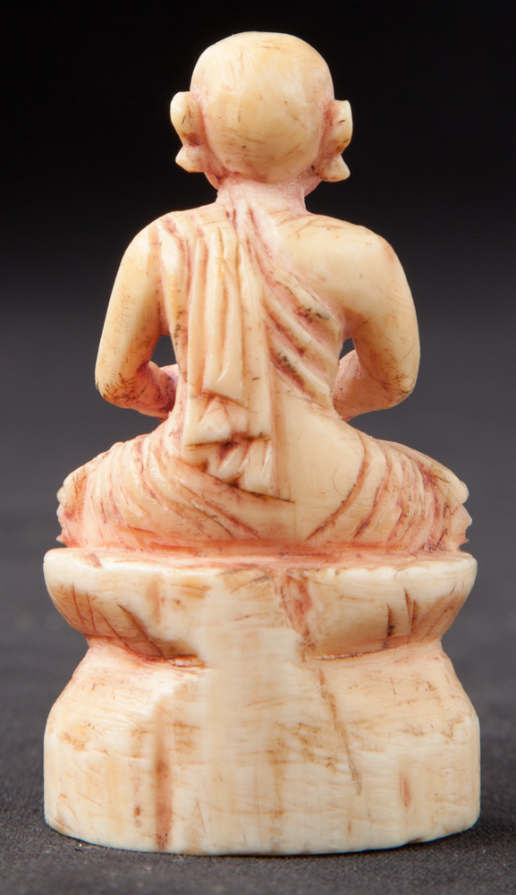 Antique Ivory Monk statue from Burma made from Ivory