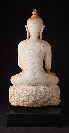 Antique Burmese alabaster Buddha statue