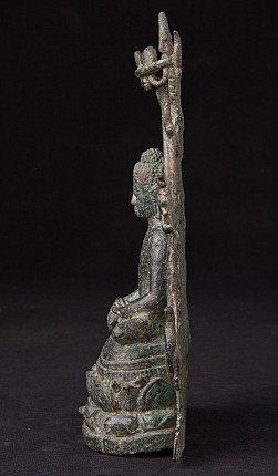 Heel bijzondere bronzen Pyu Boeddha