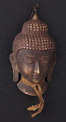 Nepali bronze Buddha head
