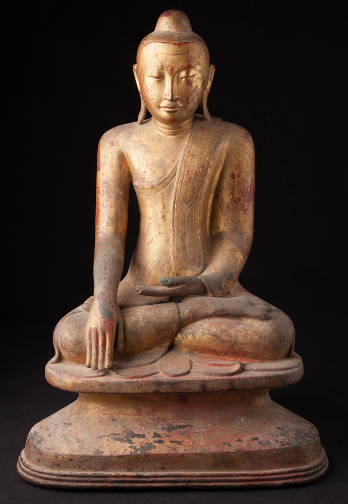 Special bronze Burmese Buddha statue from Burma made from Bronze