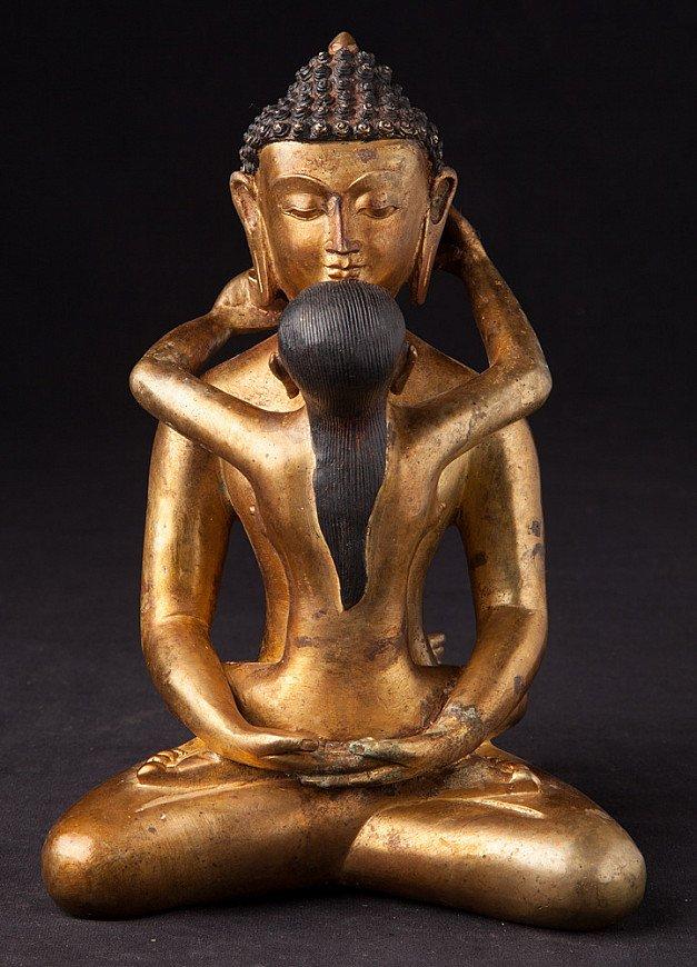Old bronze Buddha - Shakti statue
