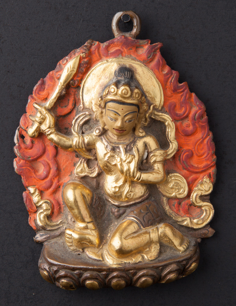 Old bronze Manjushree statue from Nepal