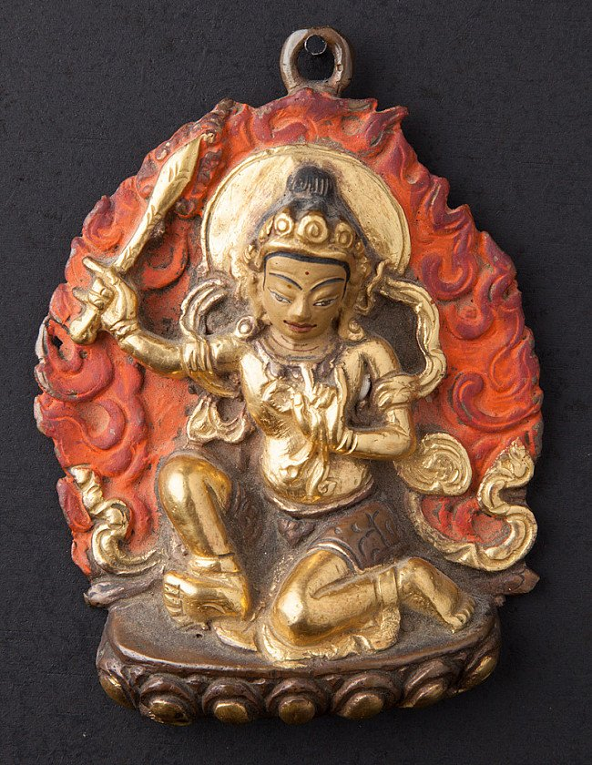 Old bronze Manjushree statue