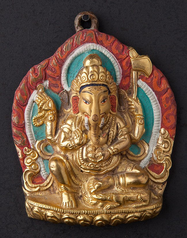 Old bronze Ganesha hanger