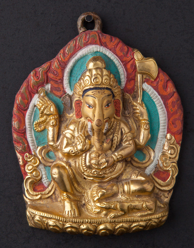 Old bronze Ganesha hanger from Nepal