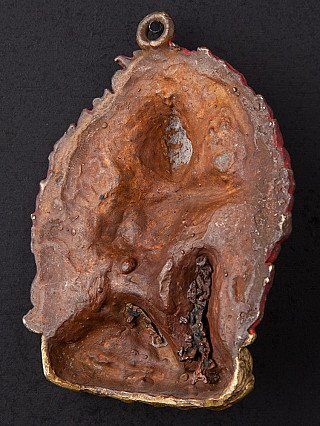 Alte bronze Manjushri Figur