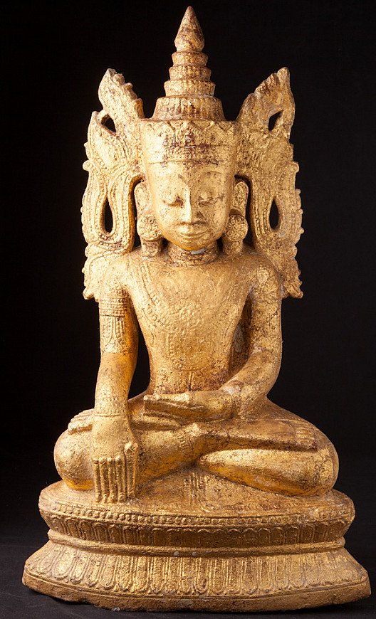 Antike Birmanische Ava Buddha Figur