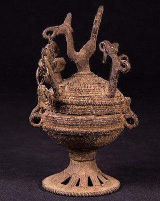Antique Tika powder bowl