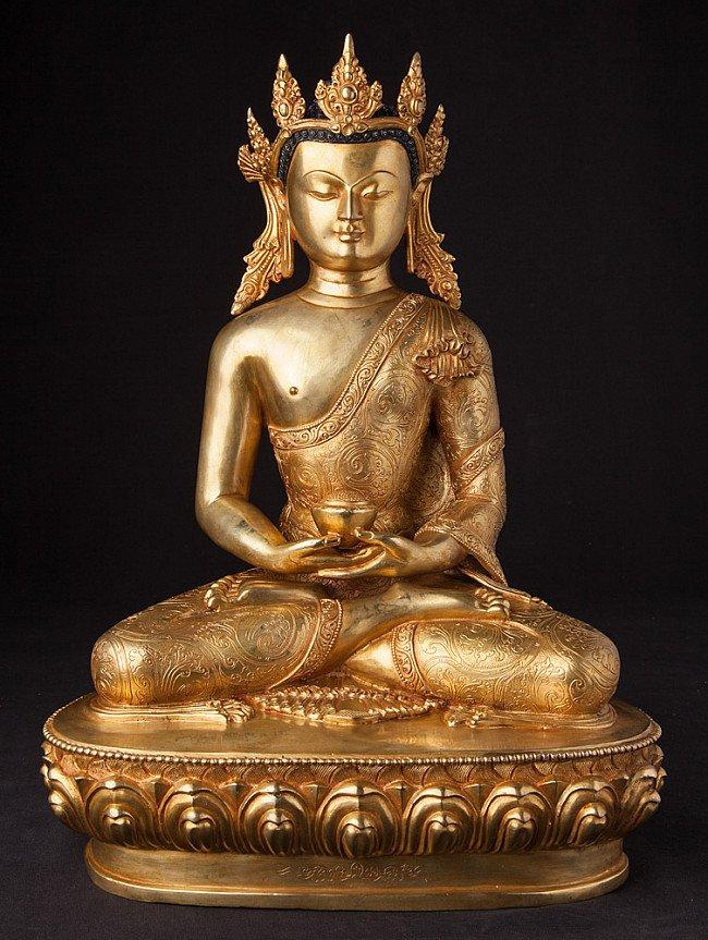 Large Nepali crowned Buddha statue