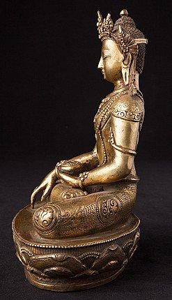 Crowned Nepali Buddha statue